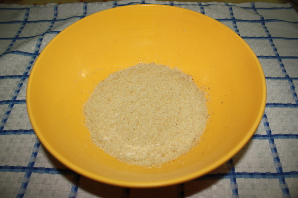 pancake vegan - unire acqua e farina