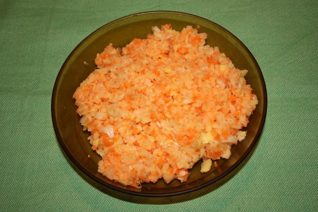 polpettone di lenticchie - frullare le verdure