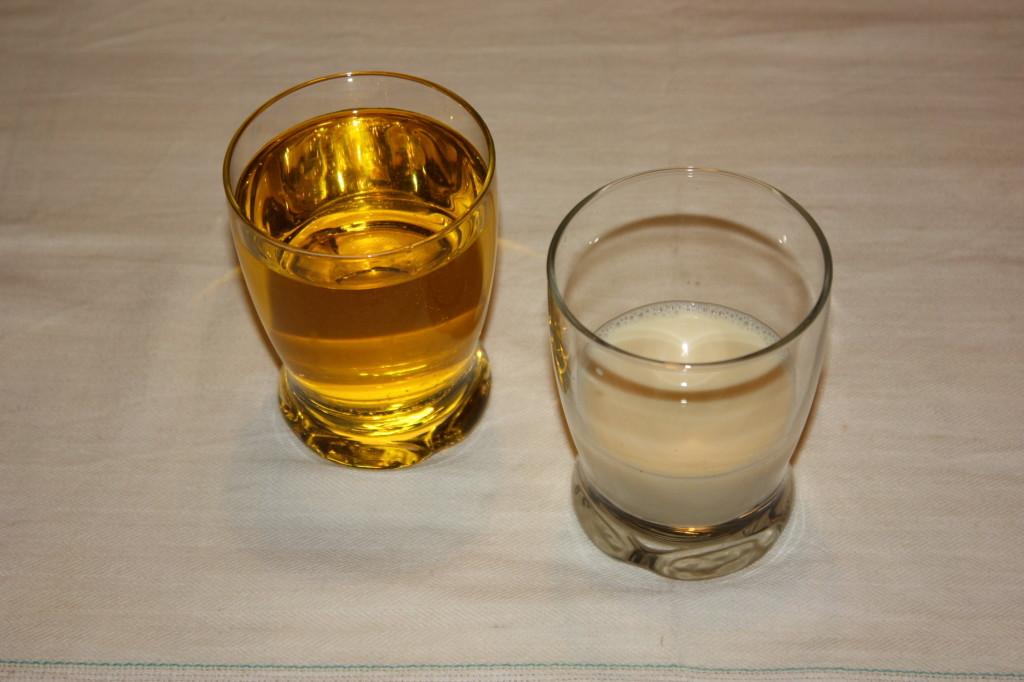 maionese vegan - misurare olio e latte