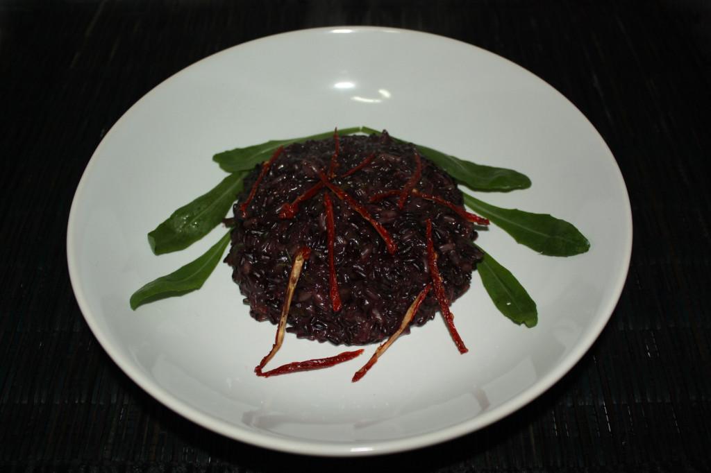 riso venere con asparagi - piatto pronto