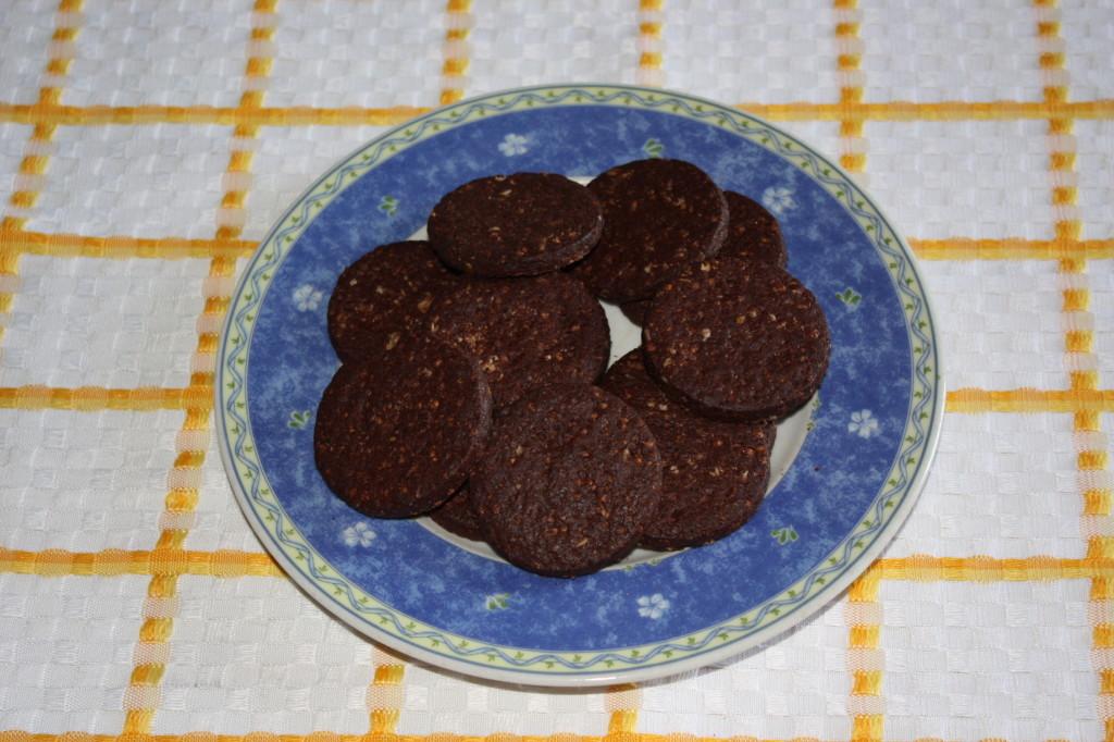 cheescake vegan al cioccolato - biscotti secchi
