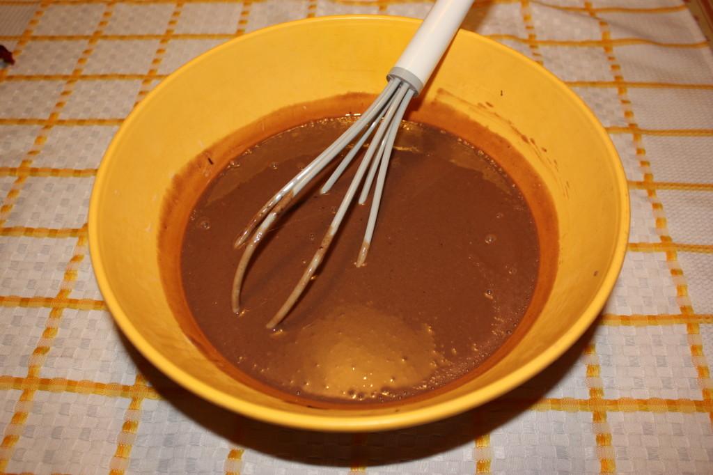 cheesecake vegan al cioccolato - unire tutti gli ingredienti