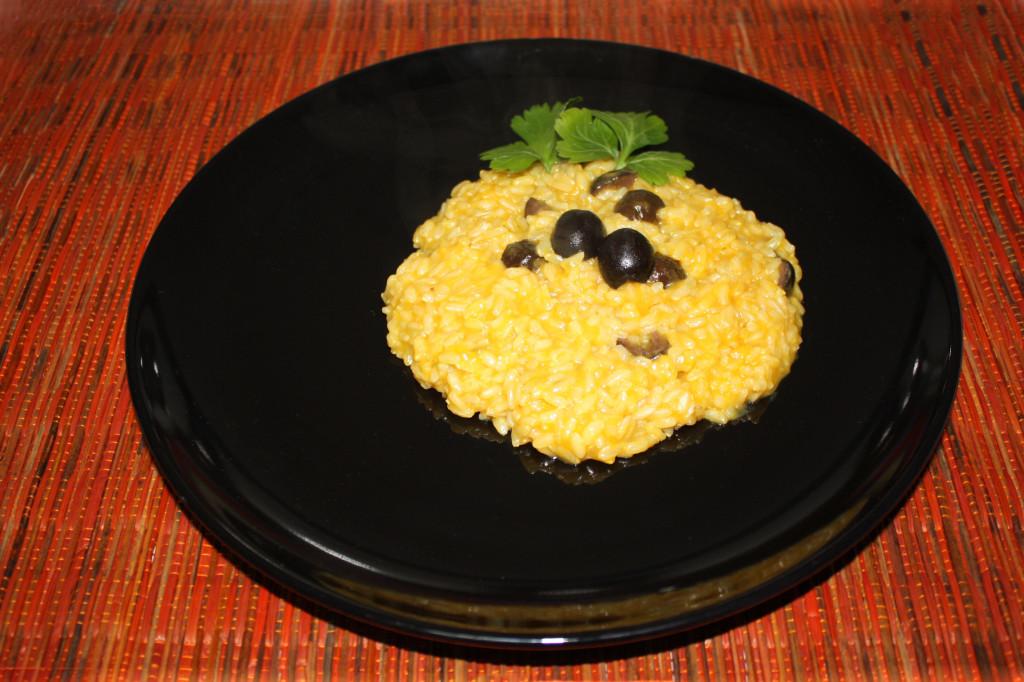 risotto con zucca e olive - piatto pronto