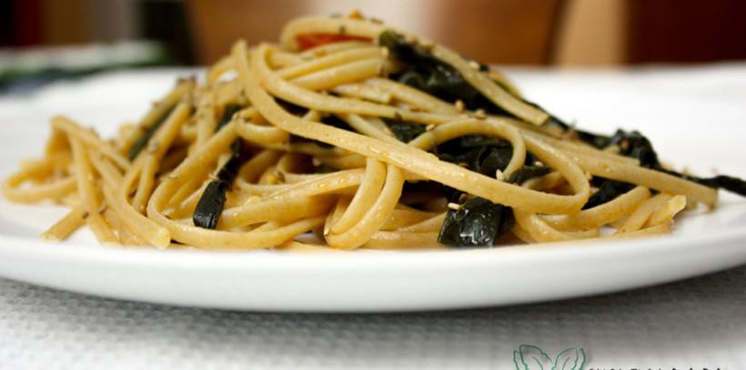 linguine alghe e pomodorini