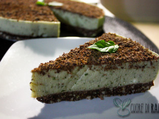 cheesecake alla menta e cioccolato