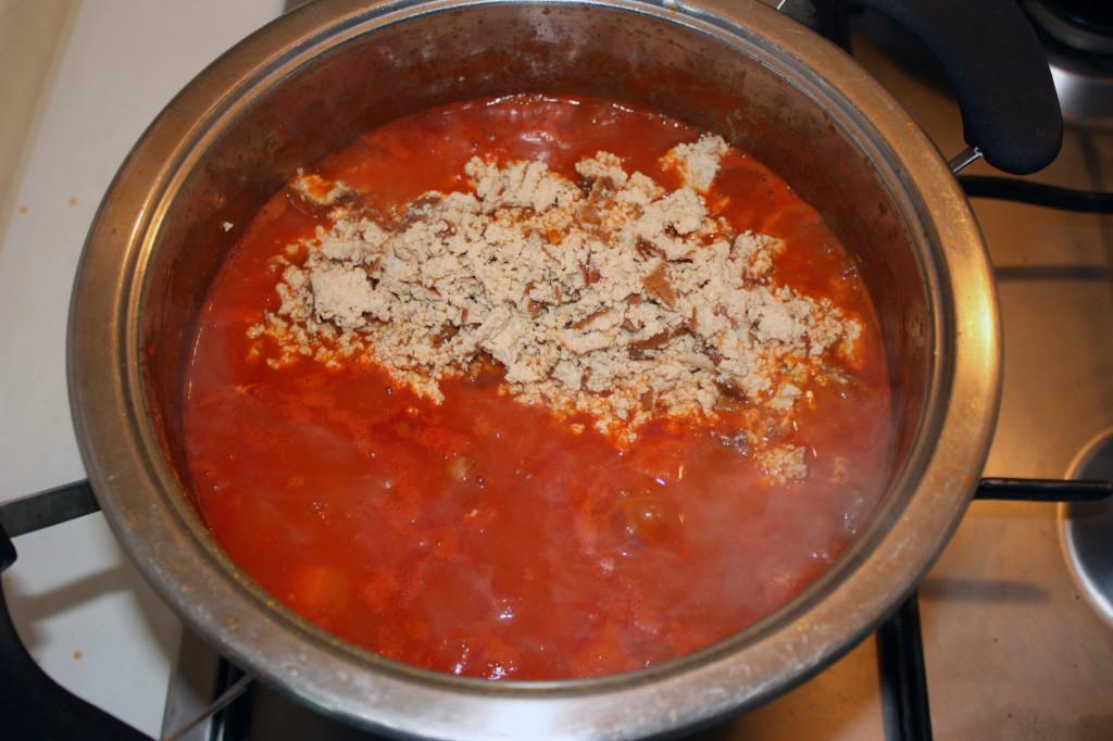 chili vegan - aggiungere tofu affumicato