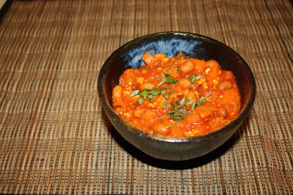 chili vegan - piatto pronto