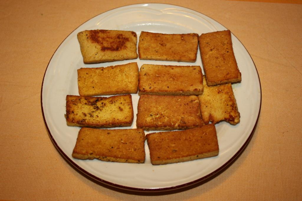tofu grigliato con crema di sponsali - tofu grigliato