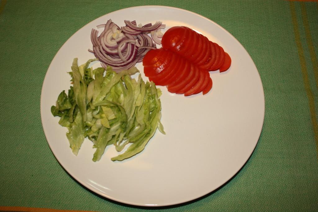 kebab vegan - affettare le verdure
