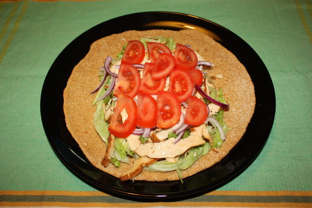 kebab vegan - farcire la piadina