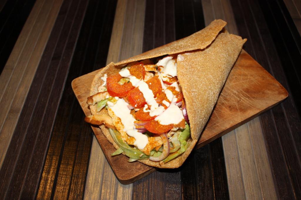 kebab vegan - piatto pronto