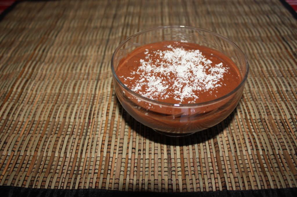 mousse al cioccolato e cocco - piatto pronto