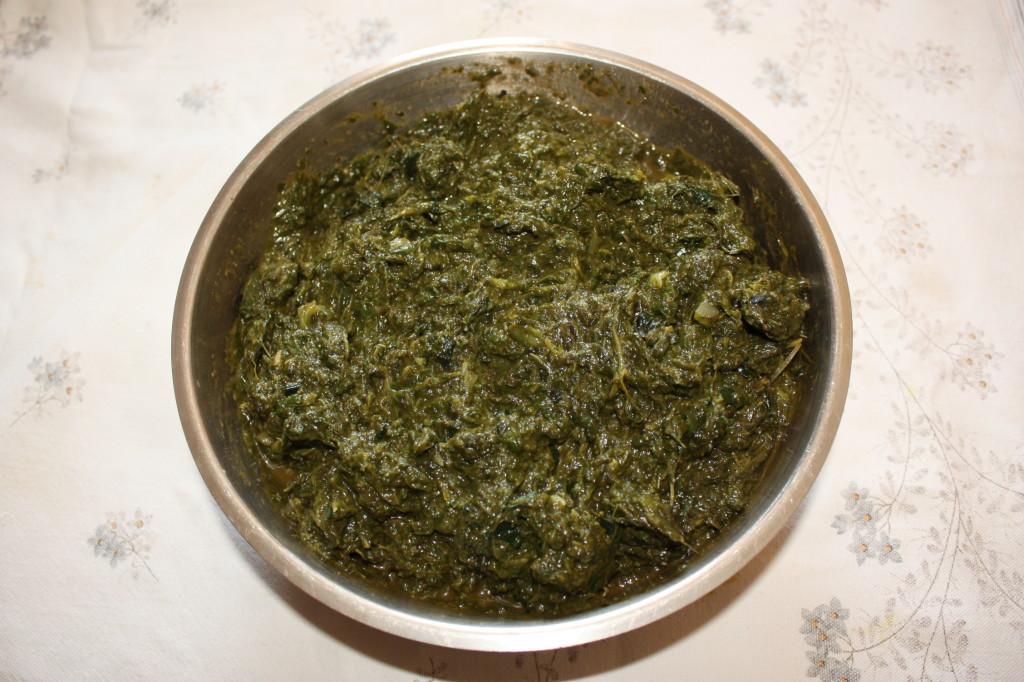 lasagna agli spinaci - frullare gli spinaci