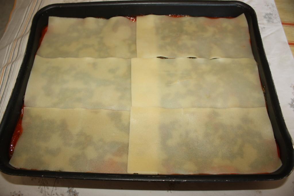 lasagna agli spinaci - terzo strato