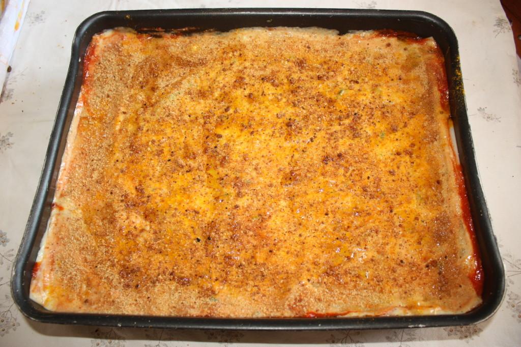 lasagna agli spinaci - pangrattato finale