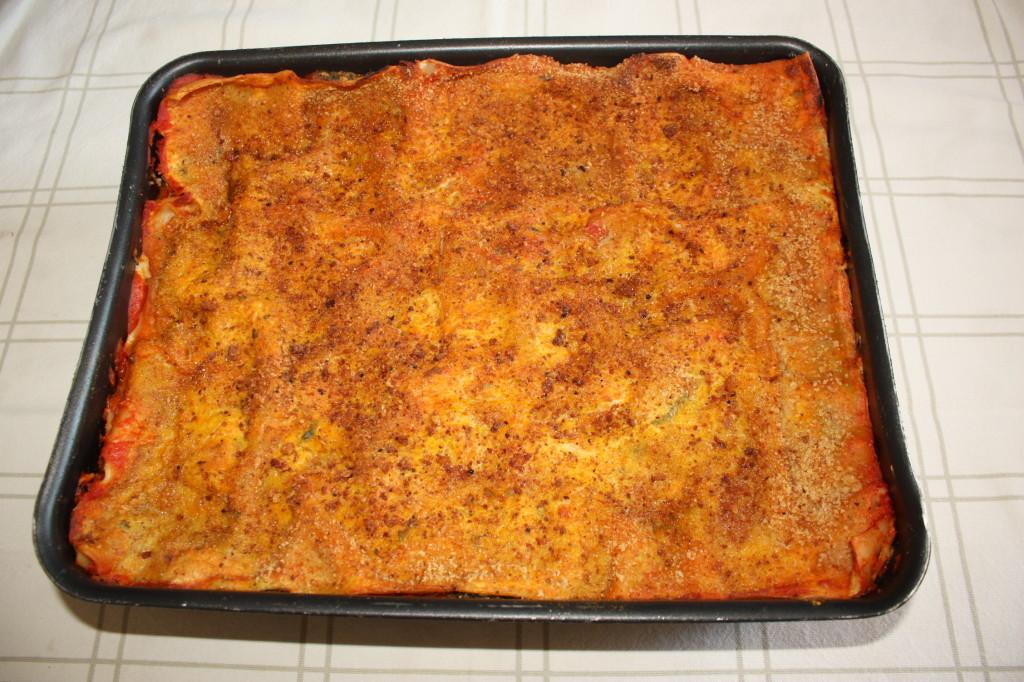 lasagna agli spinaci - infornare