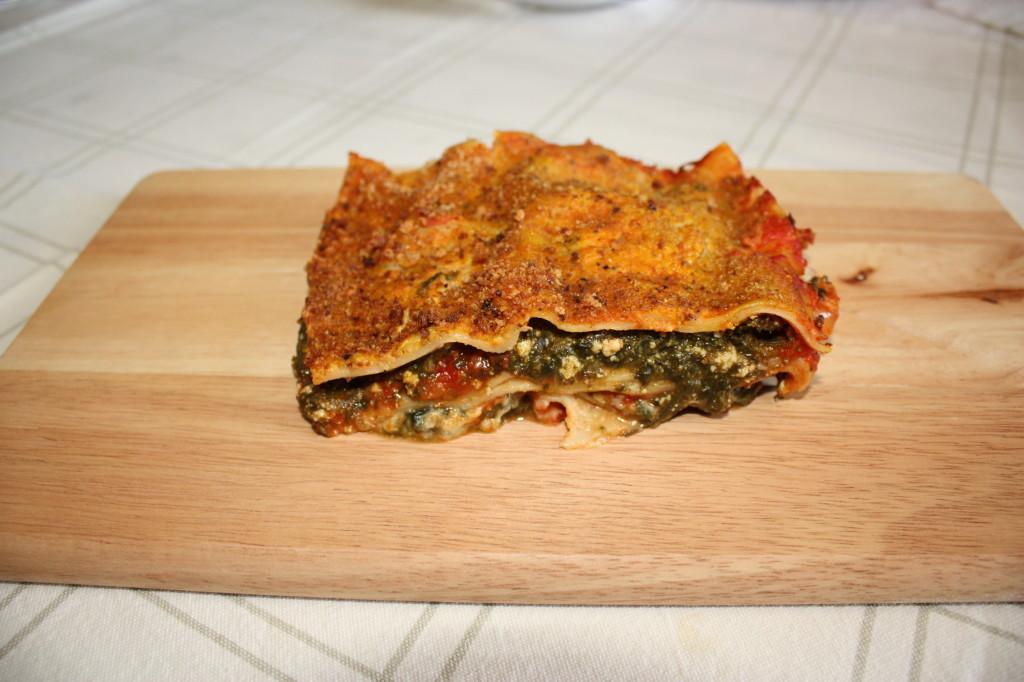 lasagna agli spinaci - piatto pronto