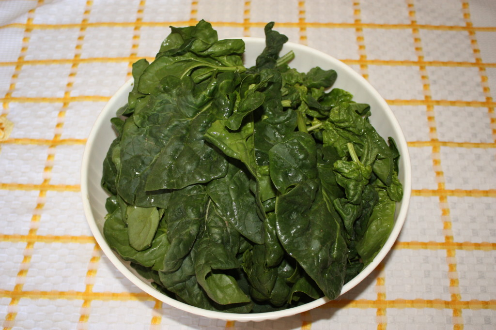 linguine al pesto di spinaci - lavare gli spinaci