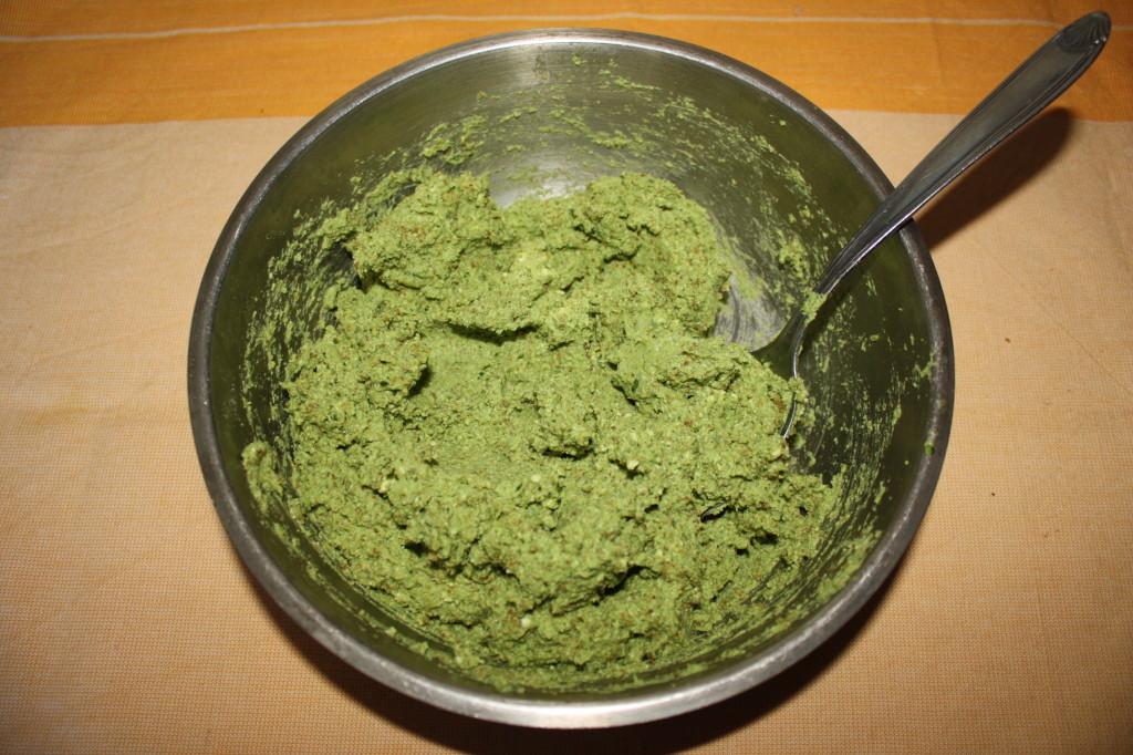 palline ai broccoli - frullare tutto