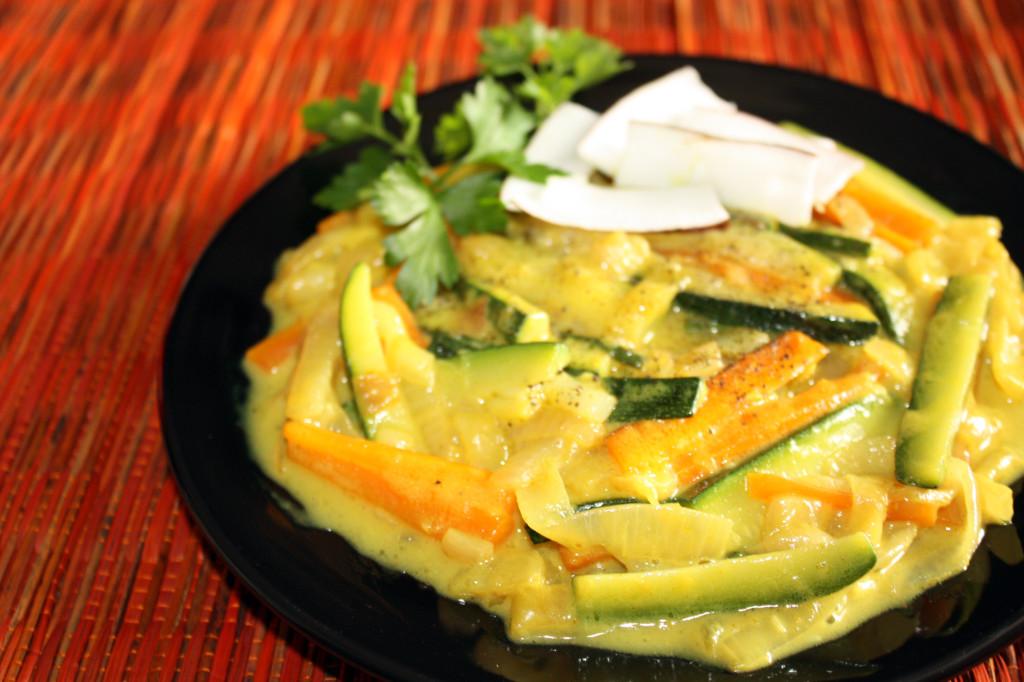 verdure al latte di cocco - piatto pronto