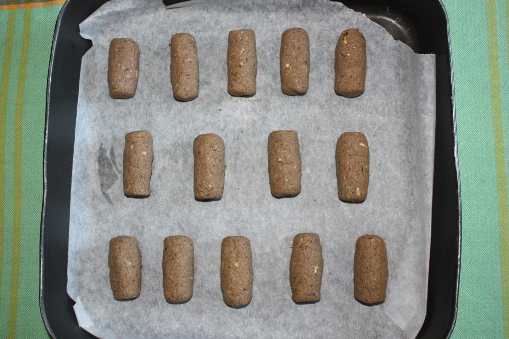 crocchette di carciofi - infornare le crocchette