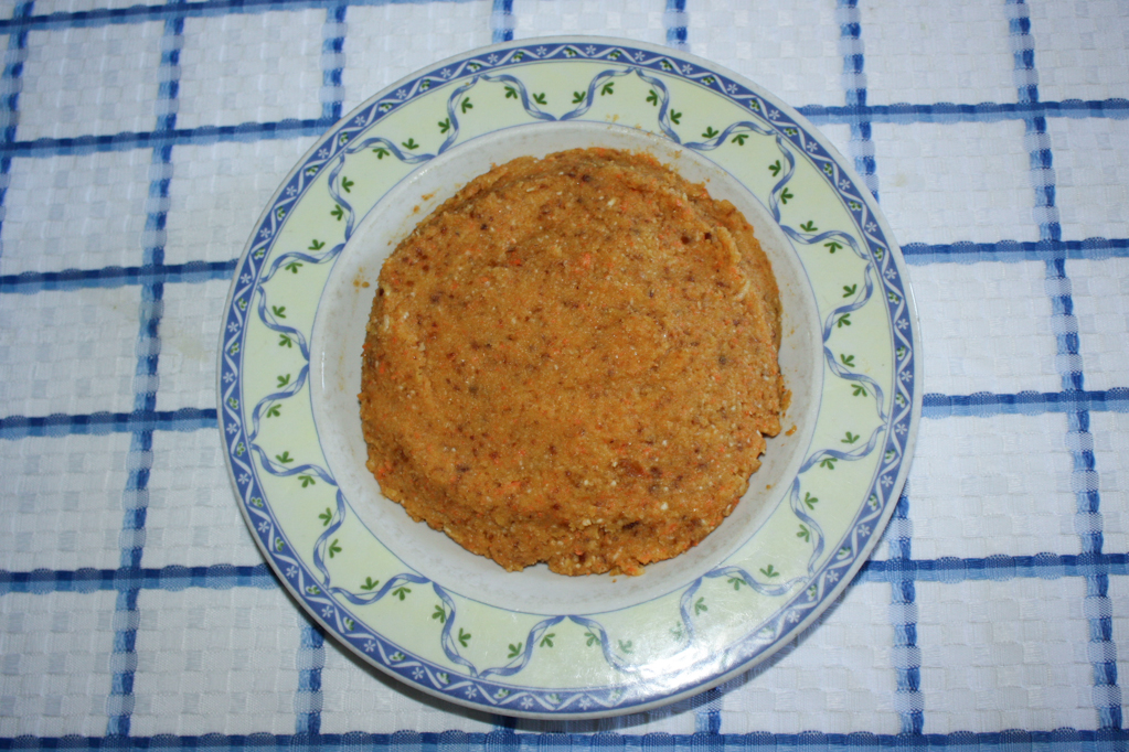 tortino al cocco raw - mandorle frullate