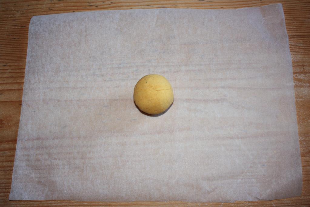 nachos - stendere le palline
