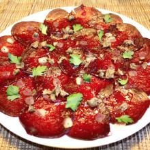 carpaccio di rapa rossa - piatto pronto