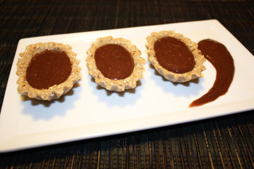 Barchette Di Avena Con Crema Di Banana Al Cioccolato – Piatto Pronto