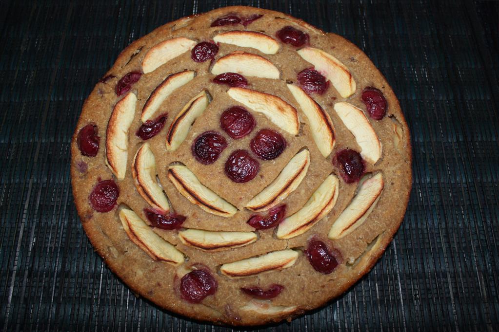 torta di mele e ciliegie - torta cotta