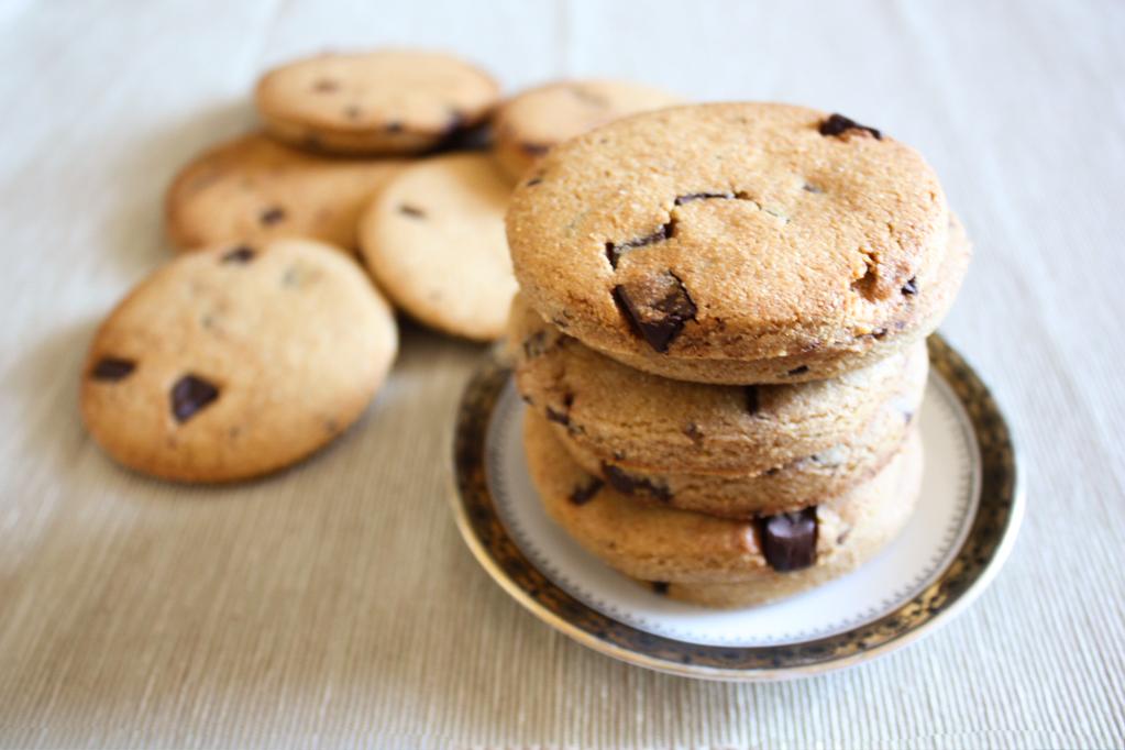 Biscotti Al Burro D'arachidi E Cioccolato – Piatto Pronto