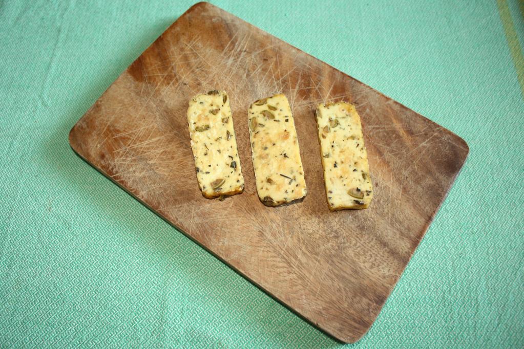tofu grigliato con peperoni croccanti - tofu grigliato