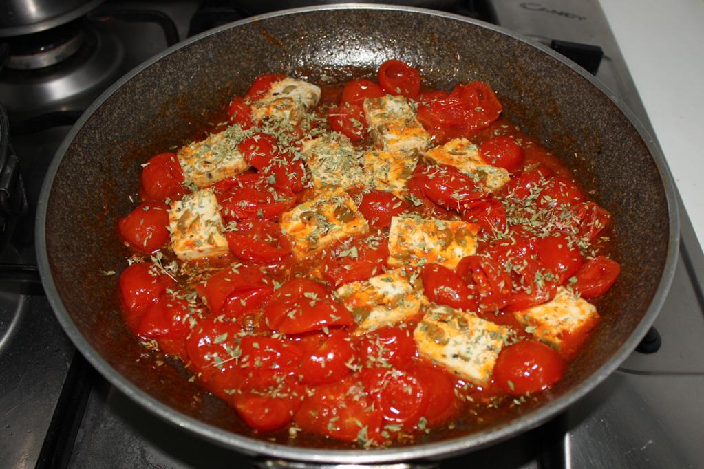 tofu alla pizzaiola - aggiungere l'origano