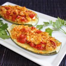barchette di zucchine ripiene - piatto pronto