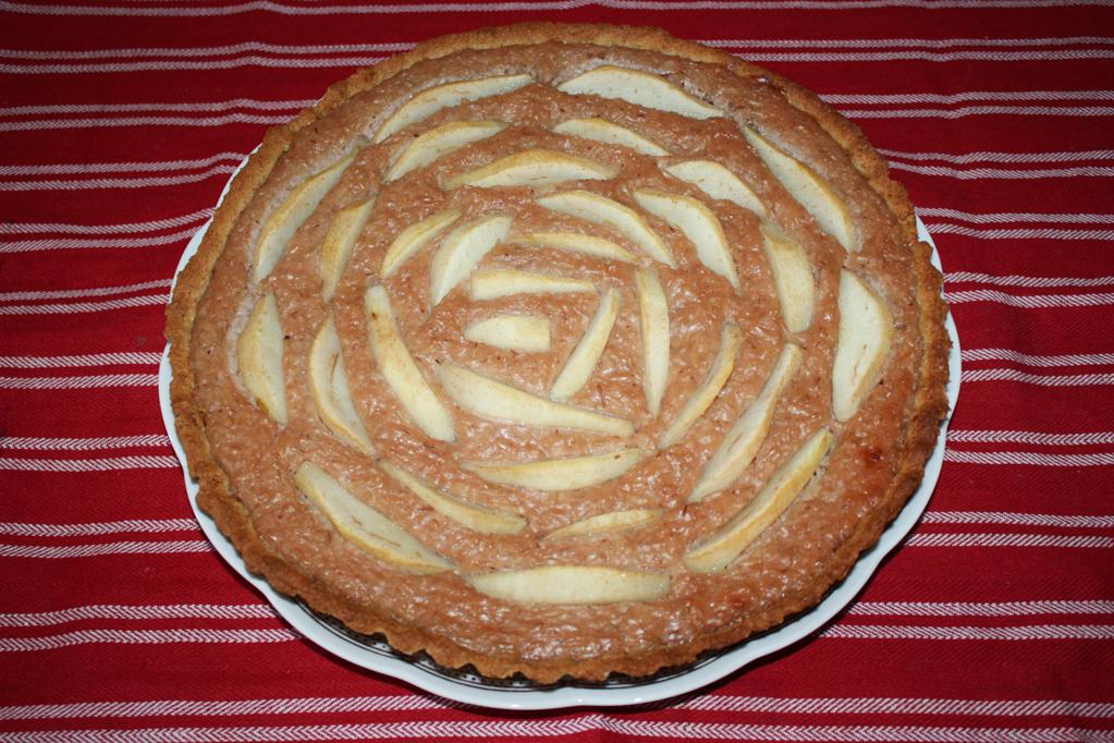 torta di riso e pere - torta cotta