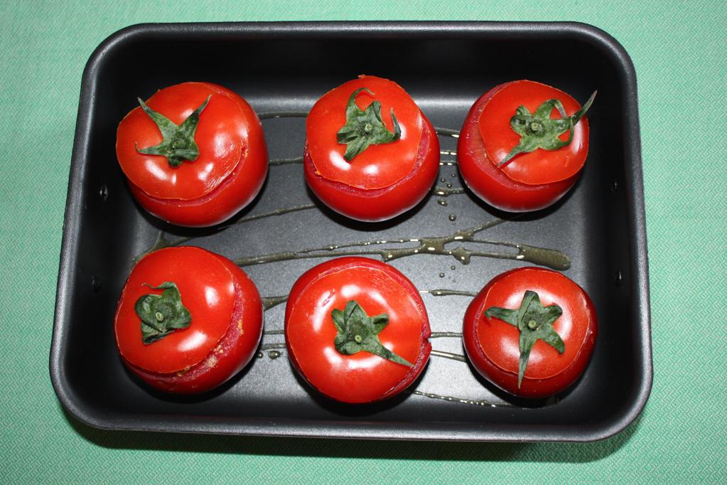 pomodori ripieni - infornare