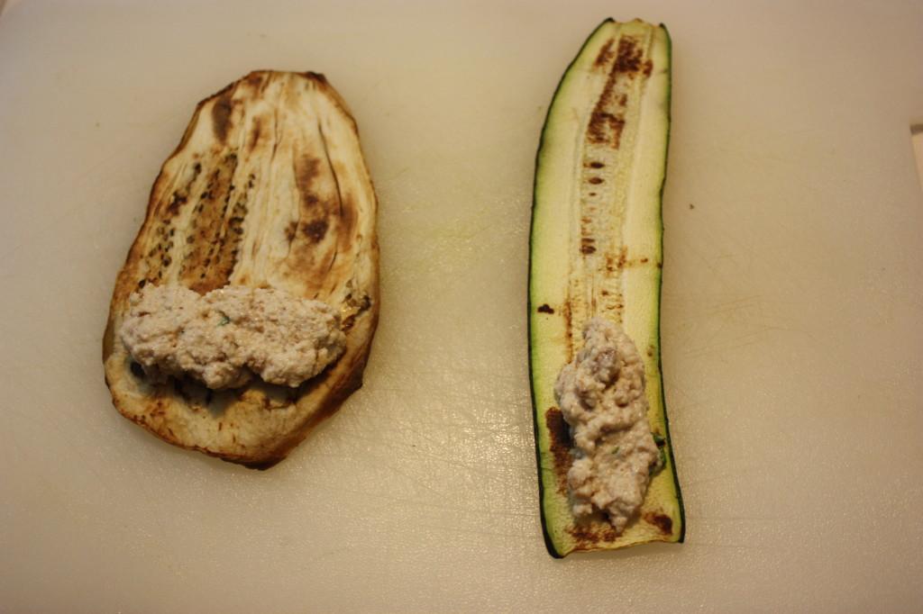 Involtini di verdura con ripieno agrodolce - preparo l'involtino