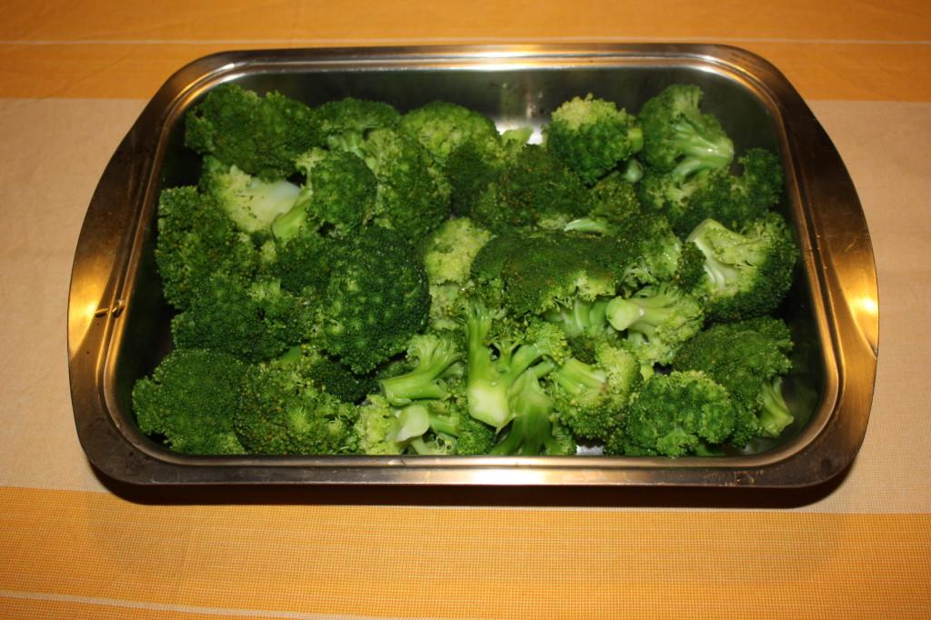 broccoli gratinati - adagiare sulla teglia
