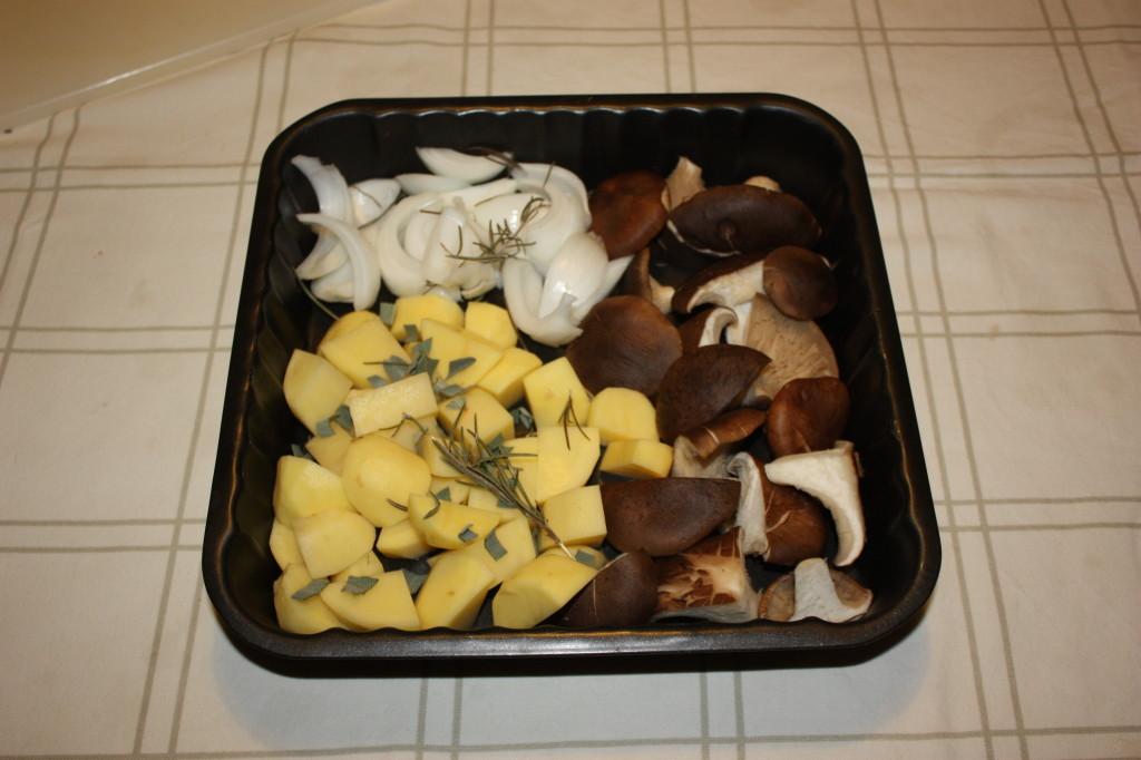 Verdure al forno - preparo le verdure