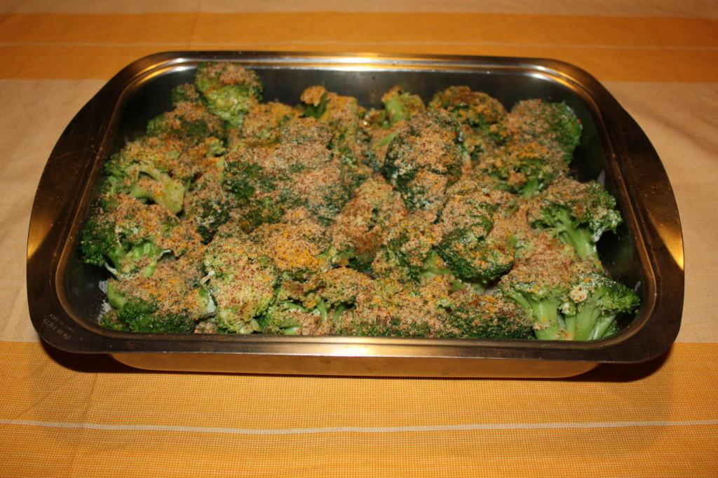 broccoli gratinati - aggiungere pan grattato