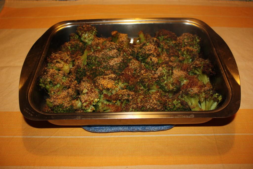 broccoli gratinati - teglia pronta