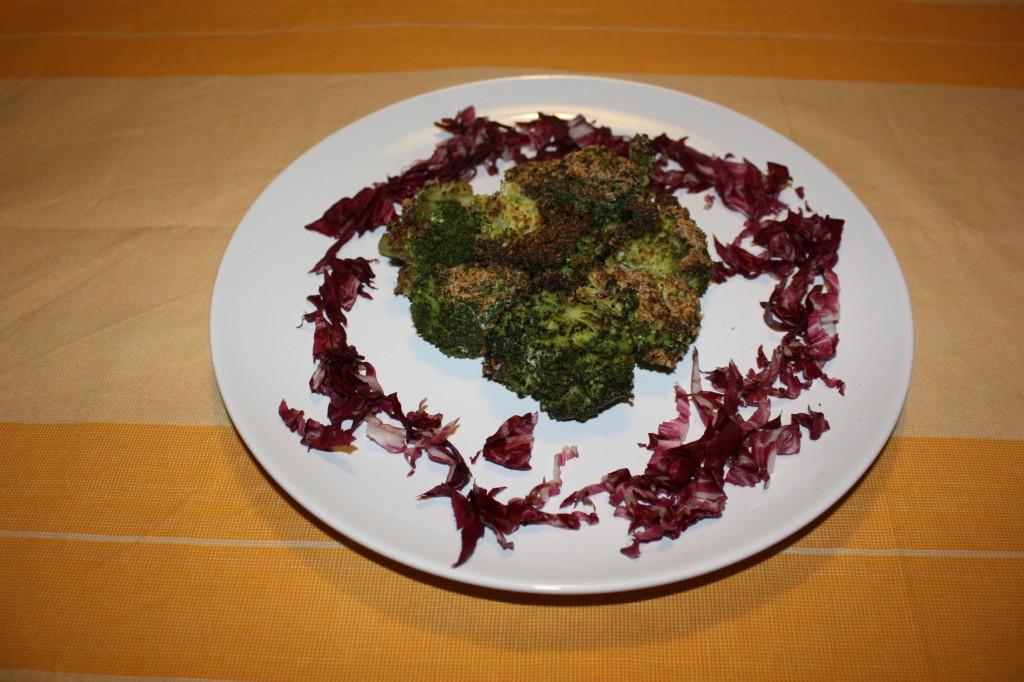 broccoli gratinati - piatto finito